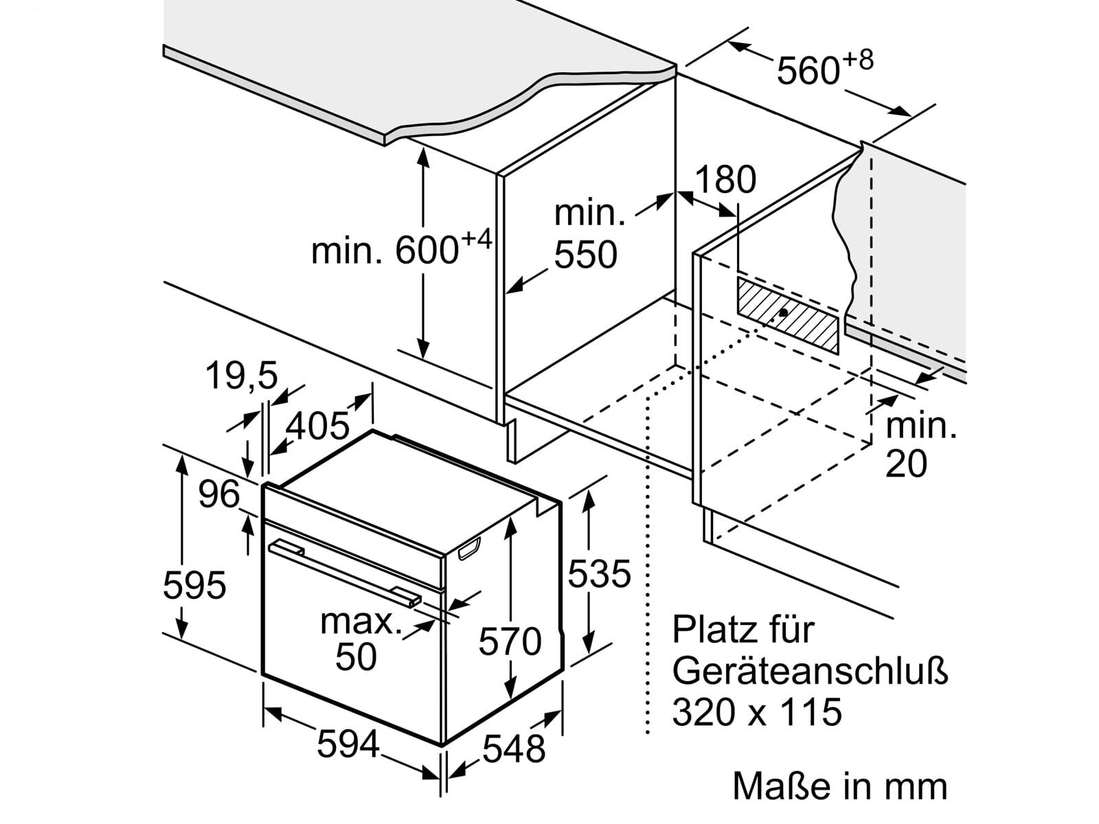 Bosch HRG5785S6 Pyrolyse Einbaubackofen mit Dampfunterstützung Edelstahl