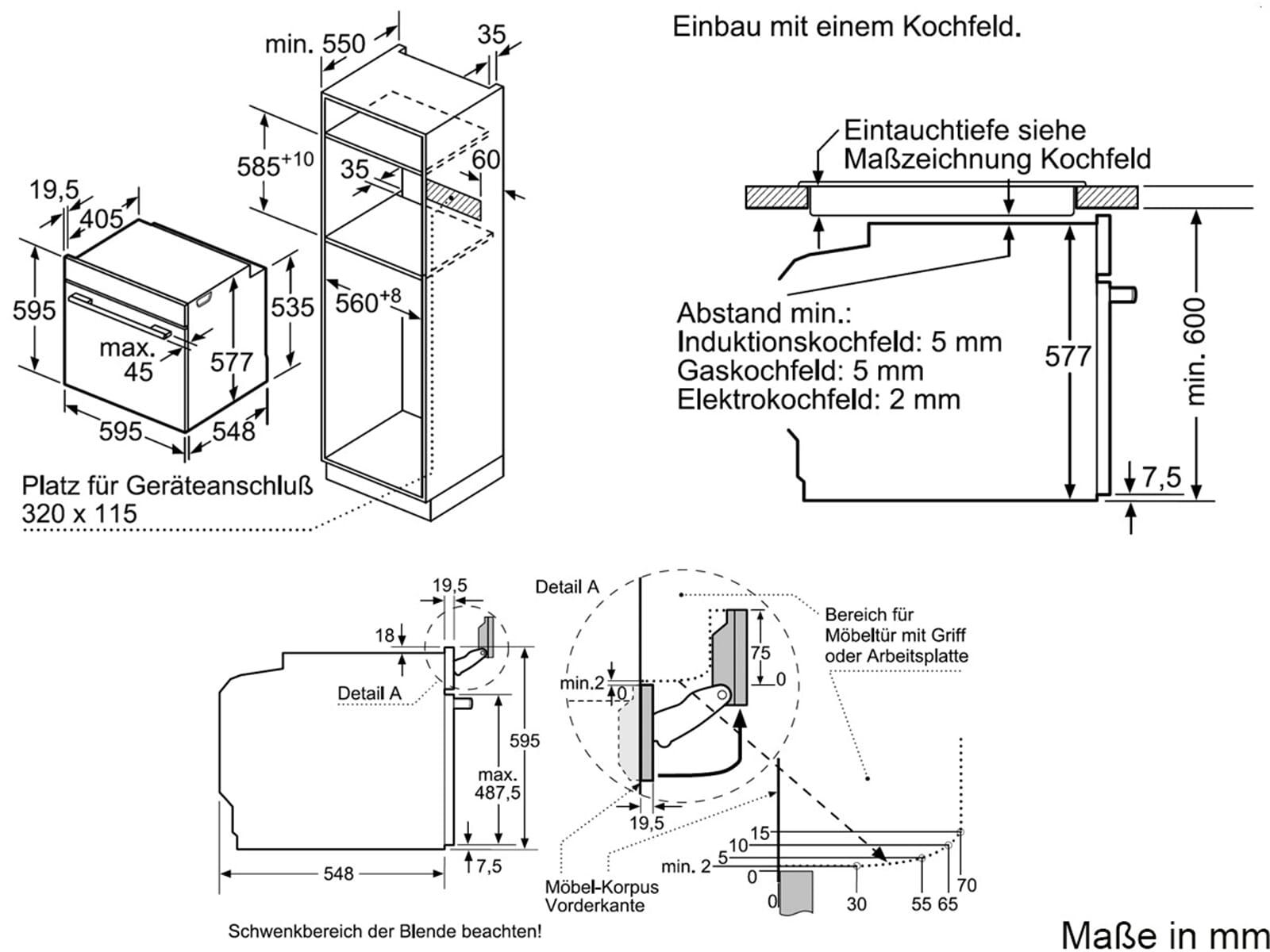 Bosch Hrg636xs6 Backofen Edelstahl Mit Dampfstoss Funktion
