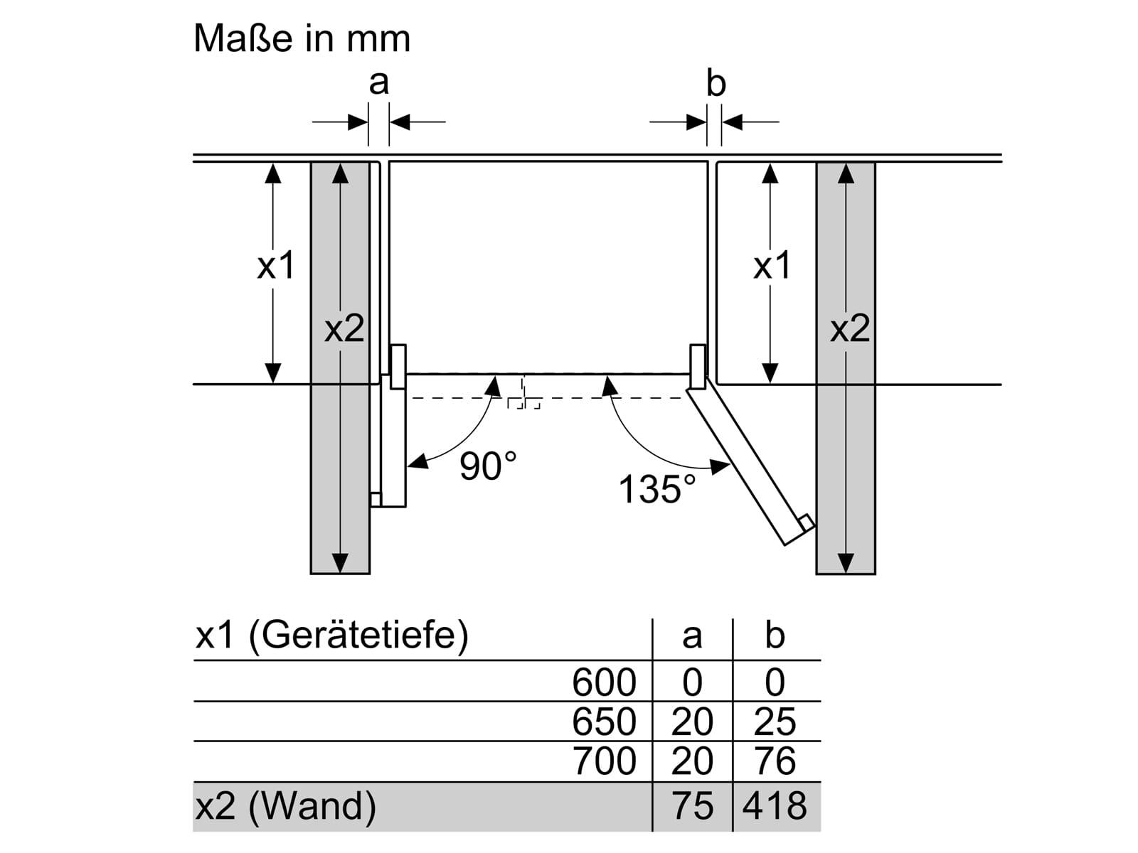 Bosch KAG93AIEP Side by Side Kühl-Gefrier-Kombination Edelstahl