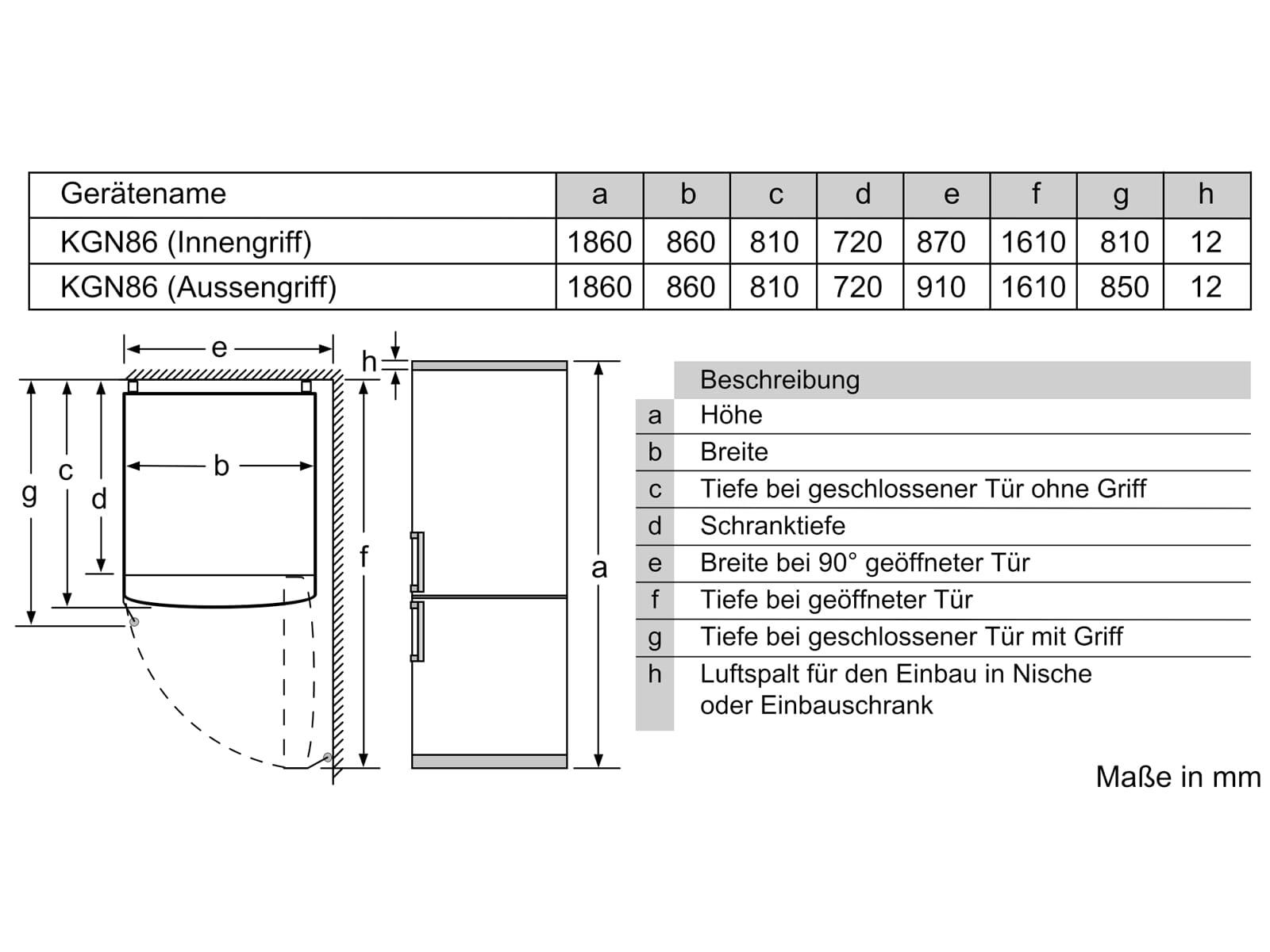 Bosch KGB86AIFP Kühl-Gefrierkombination Edelstahl