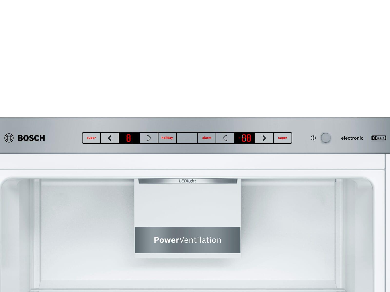 Bosch KGE36AICA Kühl-Gefrierkombination Edelstahl