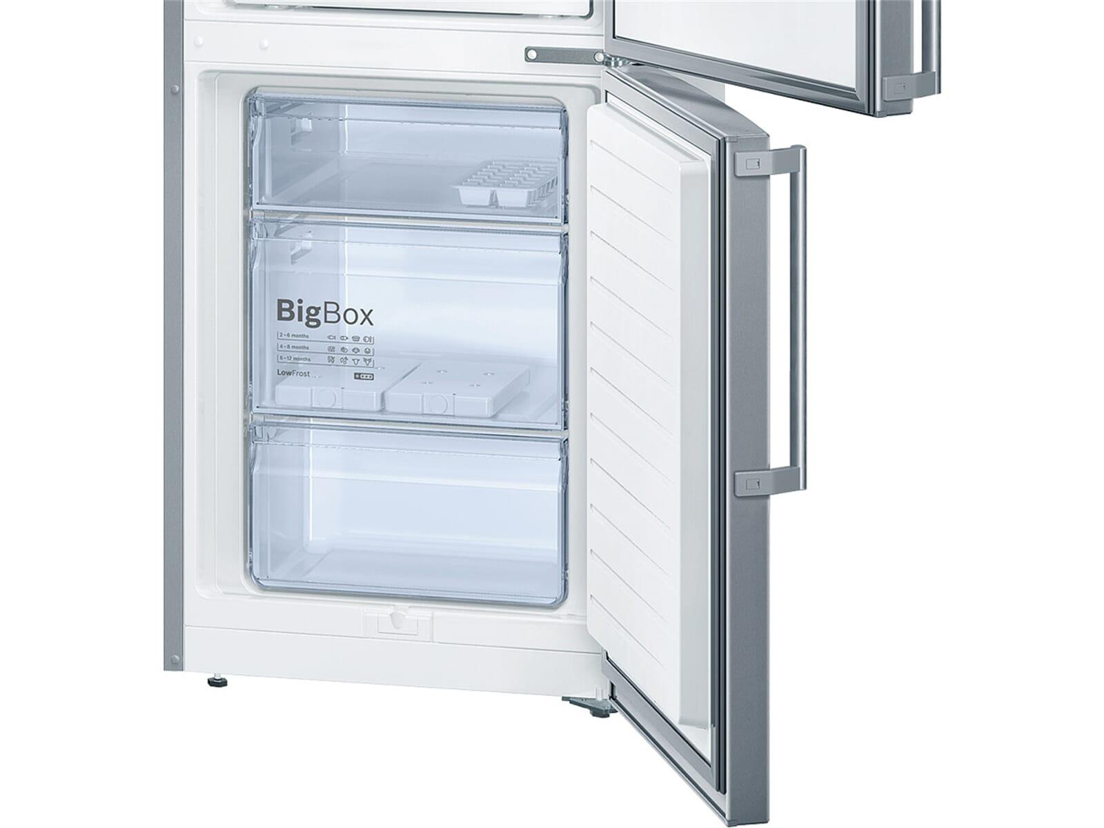 Bosch KGE36AL42 Kühl-Gefrierkombination Edelstahl-Optik