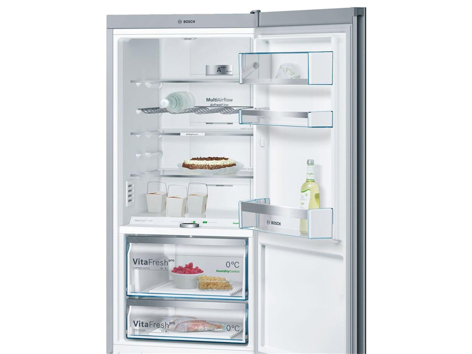 Bosch Kühlschrank Schwarz Glas : Bosch kgf sb kühl gefrierkombination schwarz