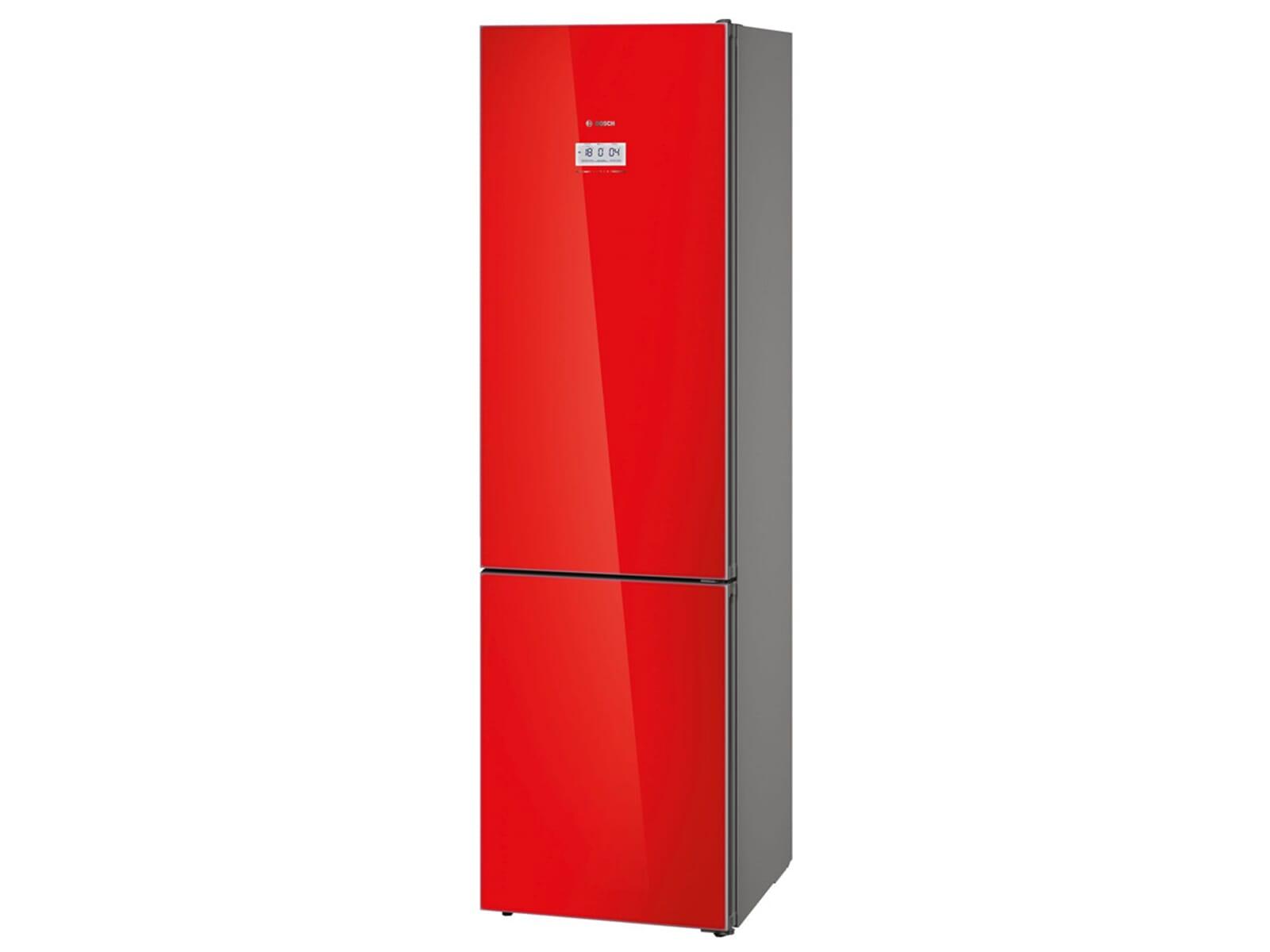 Bosch Kühlschrank No Frost : Bosch kgf sr kühl gefrierkombination rot