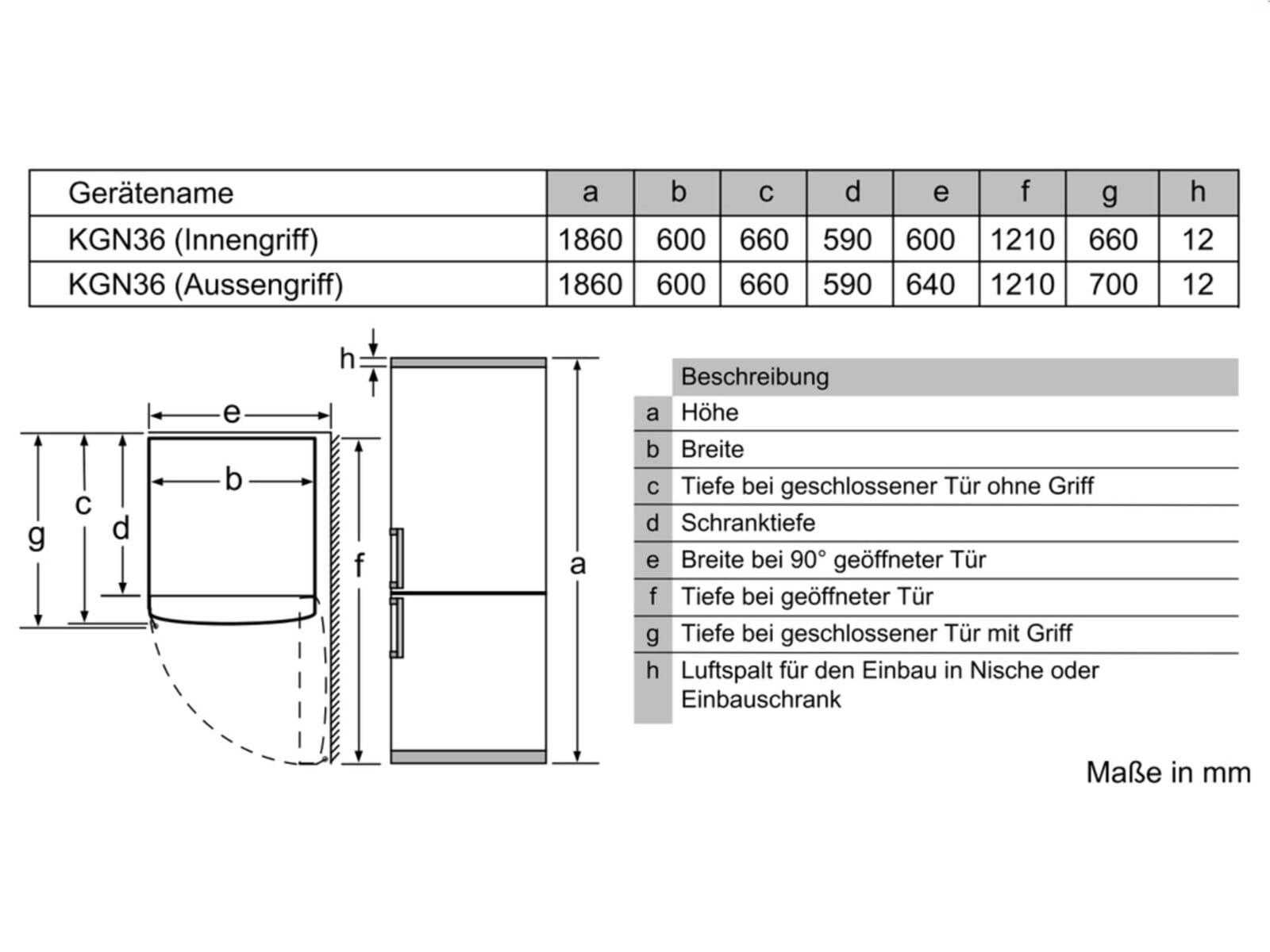 Bosch KGN36NL30 Kühl-Gefrierkombination Edelstahl-Optik