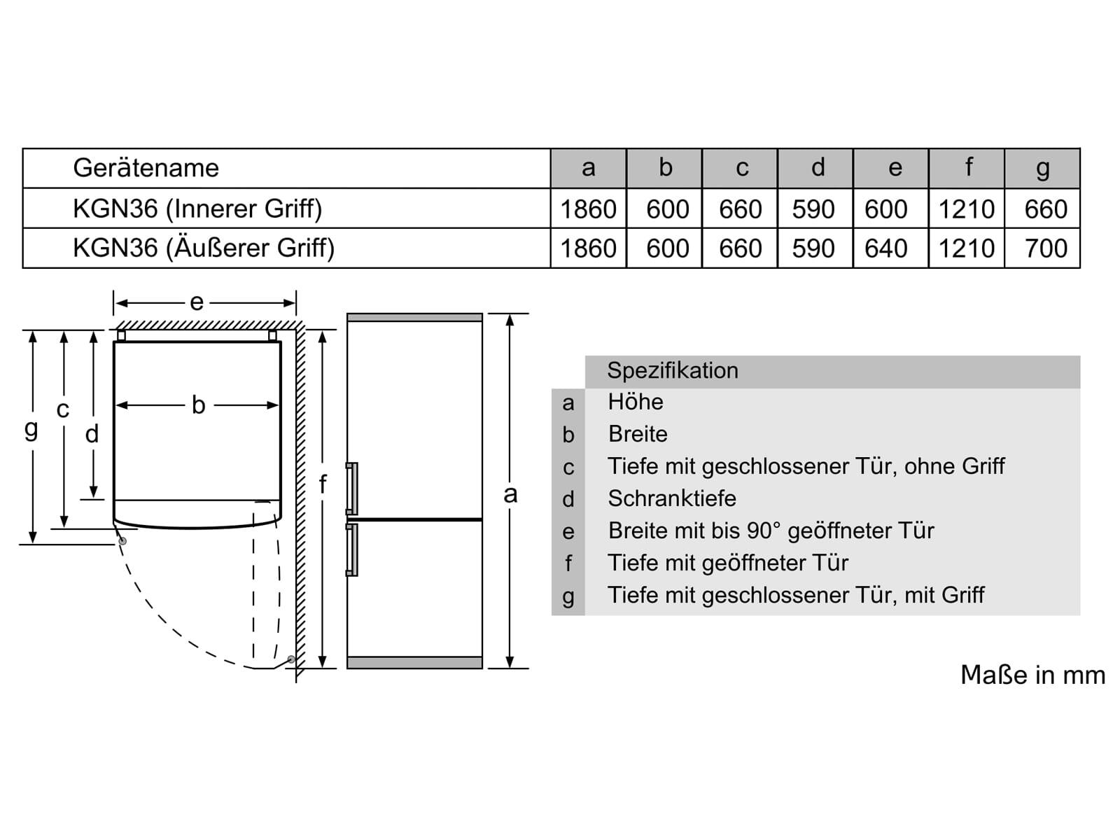 Bosch KGN36NLEB Kühl-Gefrierkombination Edelstahl-Optik