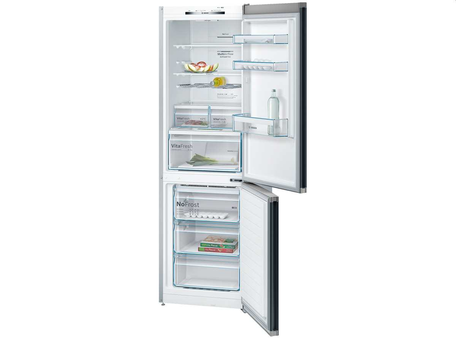 Bosch Kühlschrank Kgn 33 48 : Bosch kgn vb kühl gefrierkombination schwarz