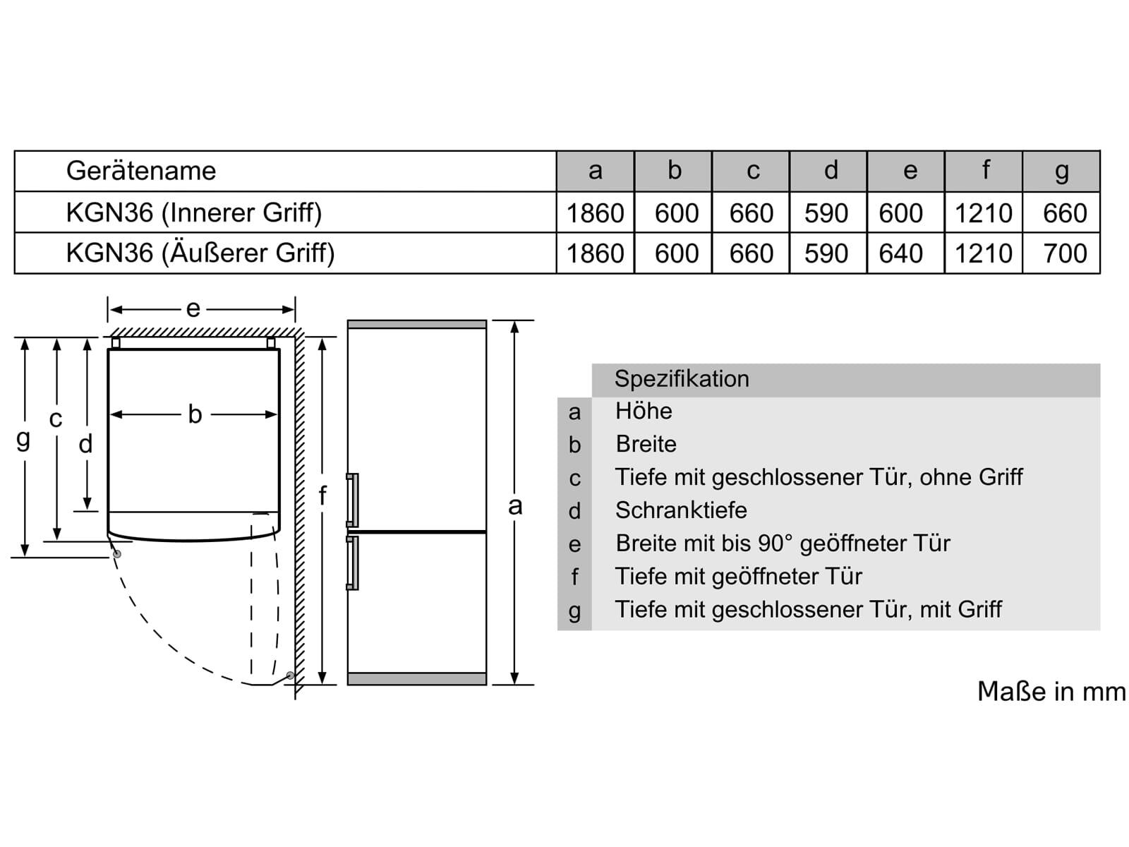 Bosch KGN36VLDD Kühl-Gefrierkombination Edelstahl-Optik
