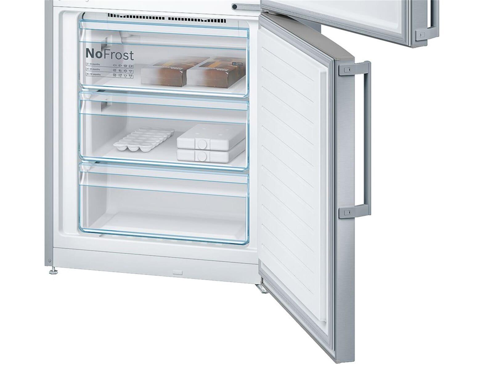Bosch Kühlschrank Mit Eiswürfelbereiter Bedienungsanleitung : Bosch kgn ai kühl gefrierkombination edelstahl