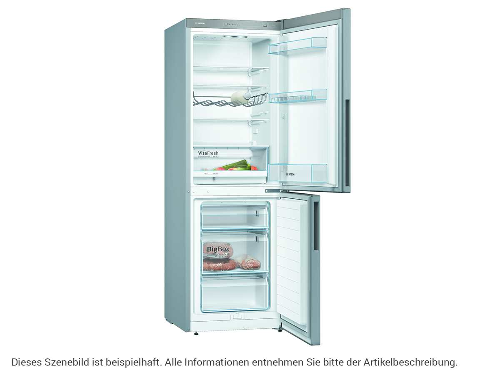 Bosch KGV33VLEA Stand Kühl-Gefrier-Kombination Edelstahl-Optik