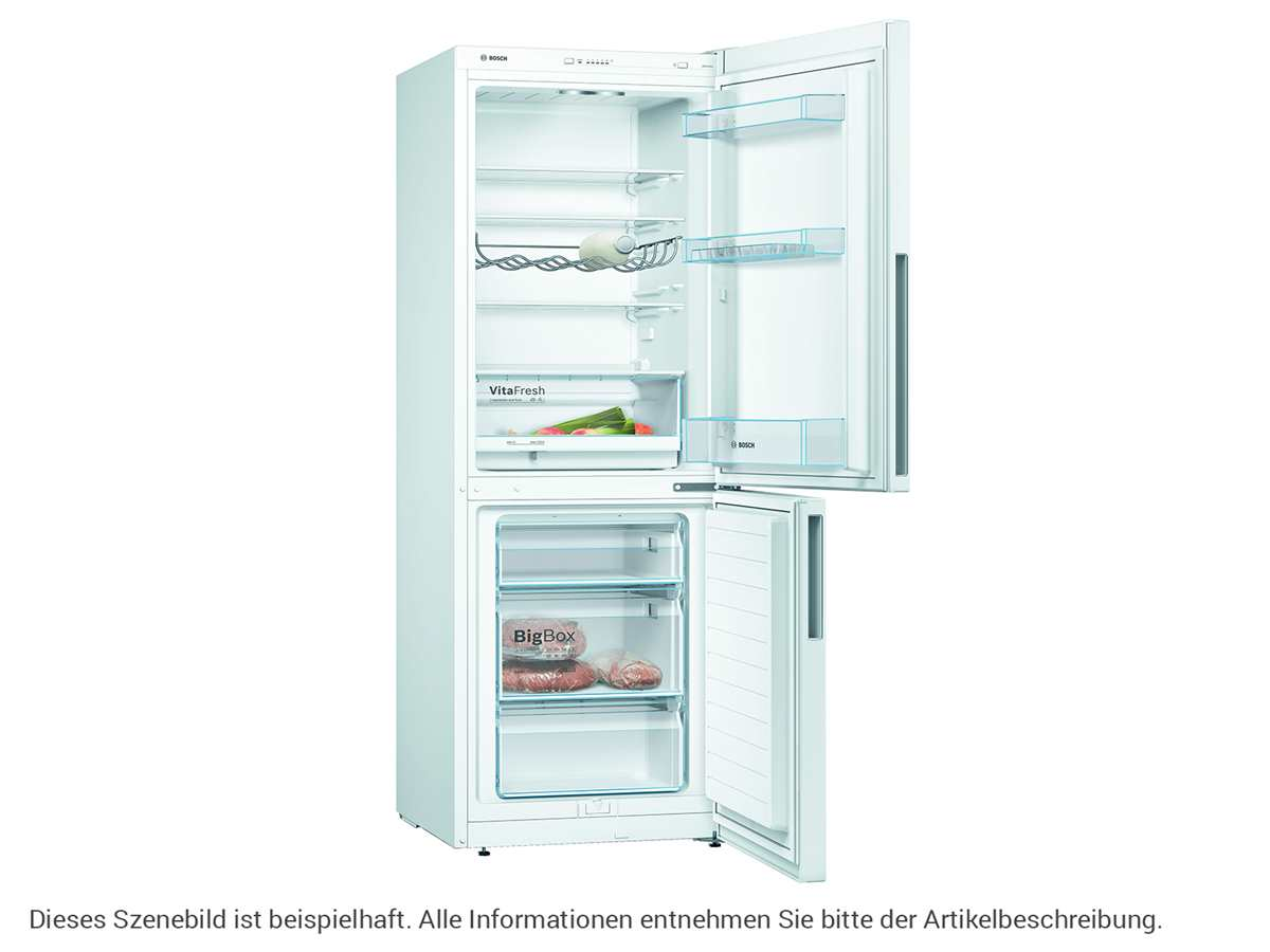Bosch KGV33VWEA Kühl -Gefrierkombination Weiß