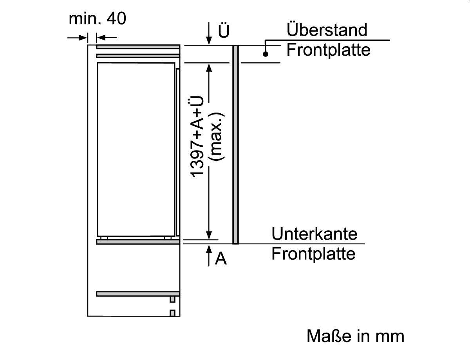 Bosch KIF51AF30 Einbaukühlschrank