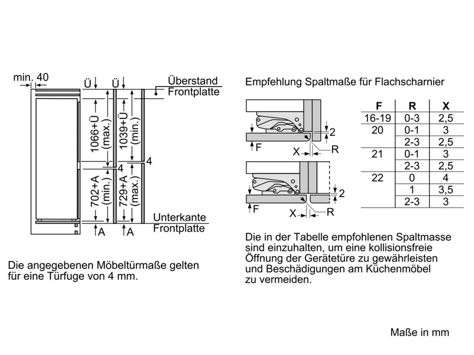 Bosch KIF86PF30 Einbau-Kühl-Gefrierkombination
