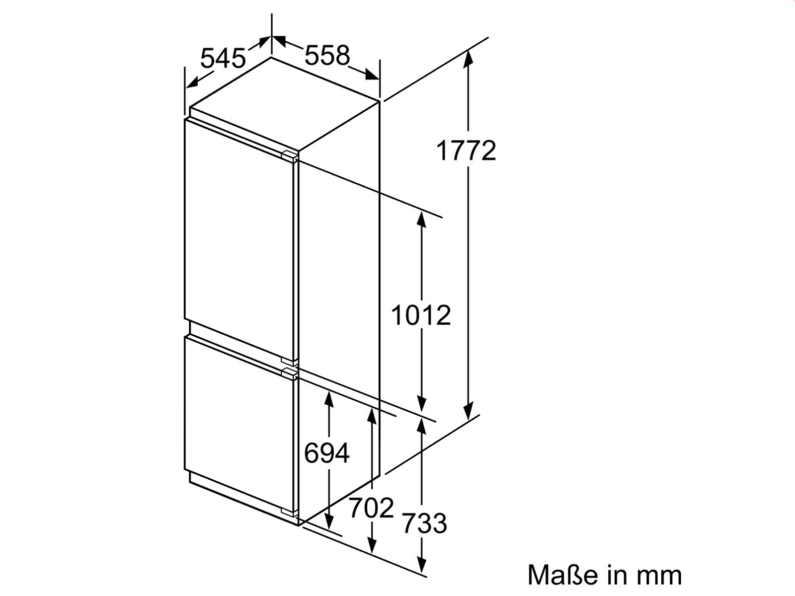 bosch kin86af30 einbau k hl gefrierkombination. Black Bedroom Furniture Sets. Home Design Ideas