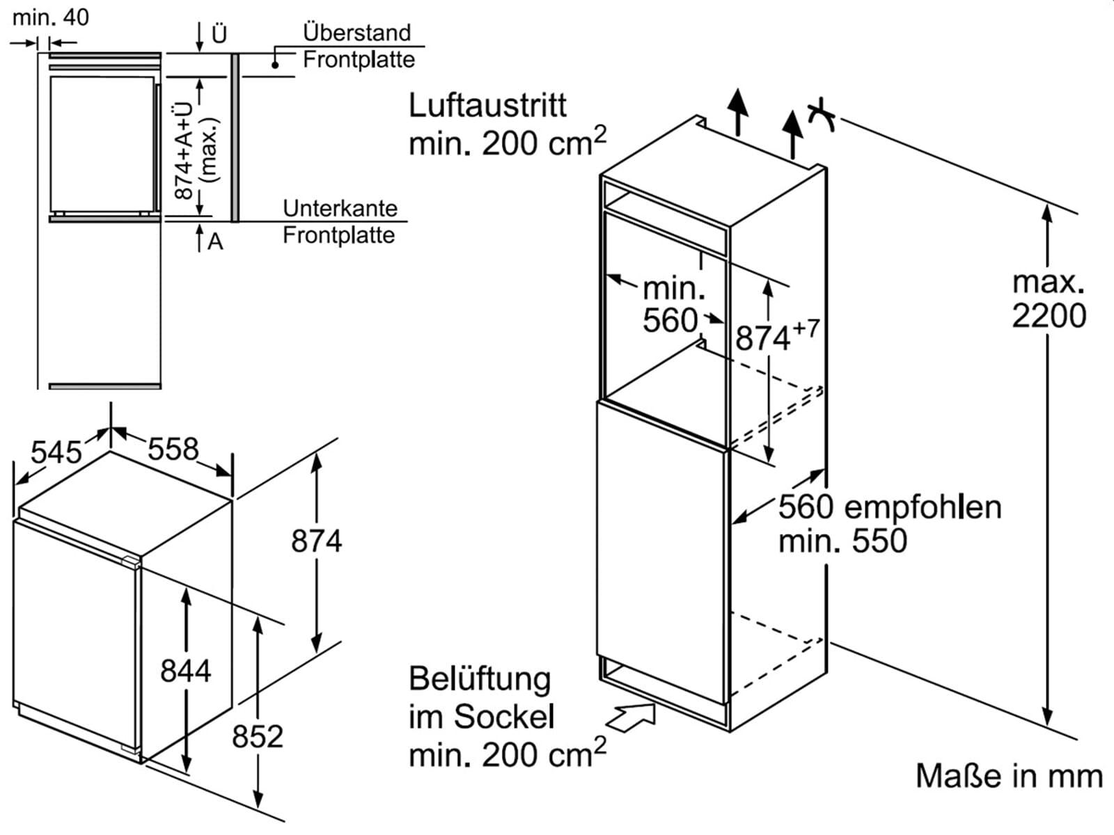 Bosch KIR21AF30 Einbaukühlschrank