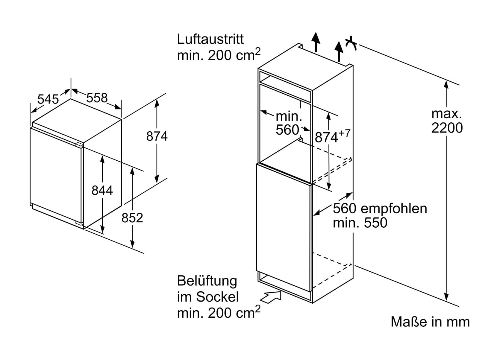 Bosch KIR21AFF0 Einbaukühlschrank