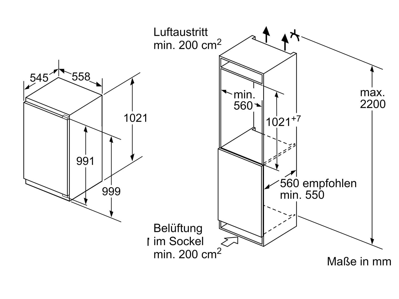 Bosch KIR31AFF0 Einbaukühlschrank
