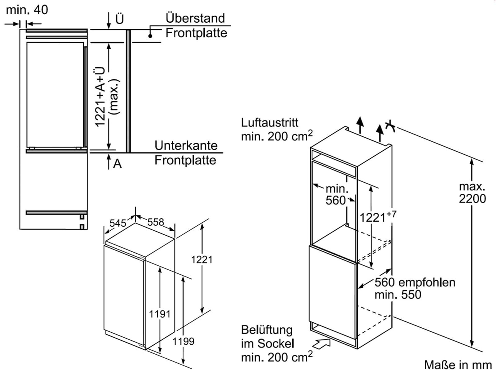 Bosch KIR41AD40 Einbaukühlschrank