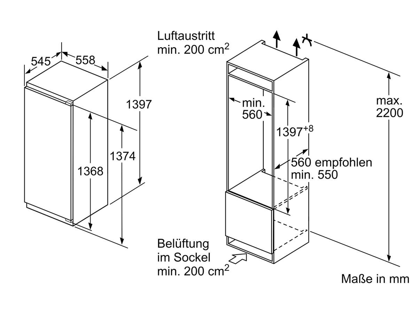 Bosch KIR51ADE0 Einbaukühlschrank