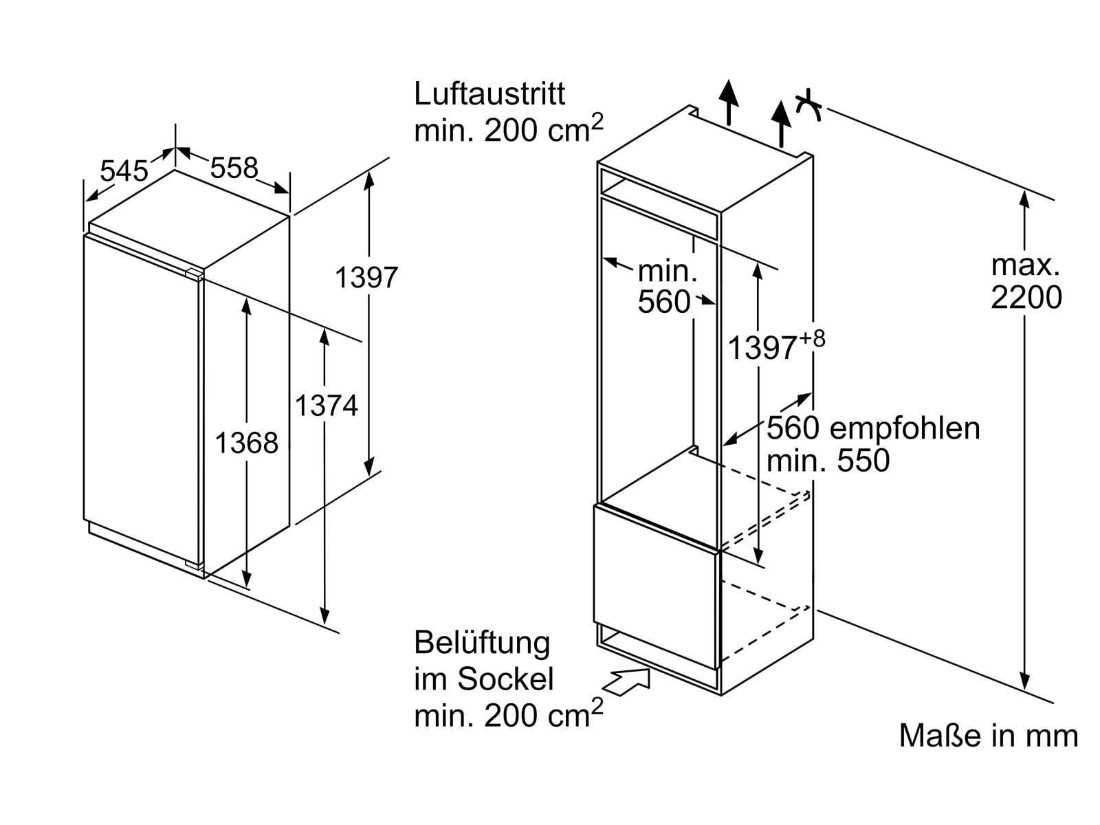Bosch KIR51AFF0 Einbaukühlschrank