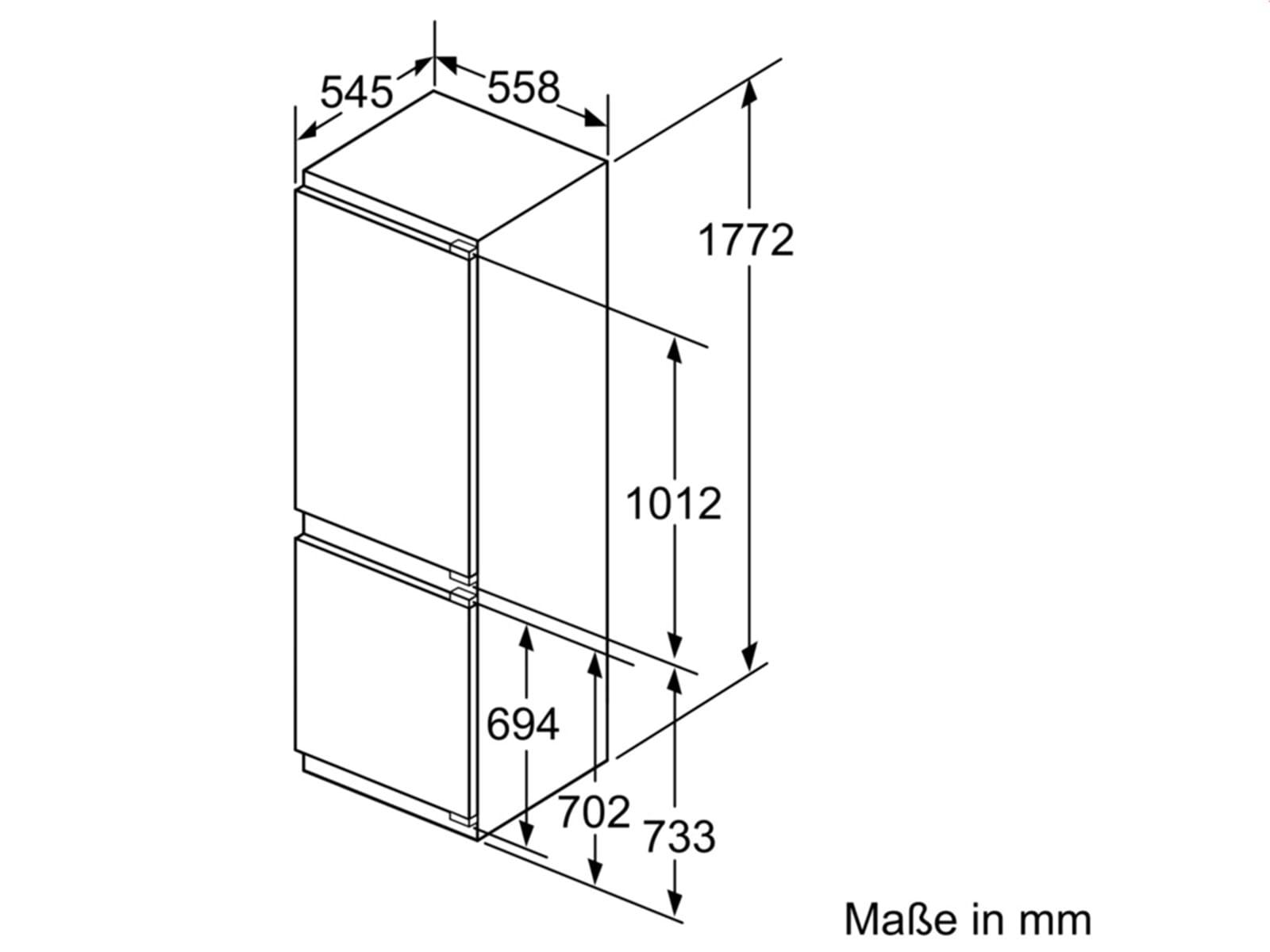 bosch kis86af30 einbau k hl gefrierkombination. Black Bedroom Furniture Sets. Home Design Ideas