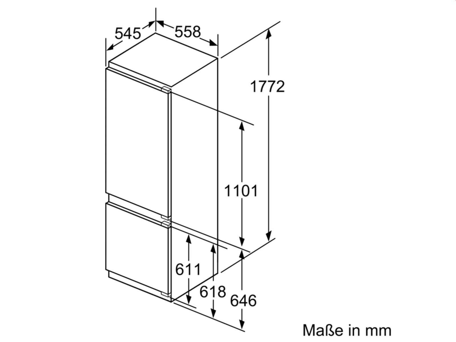 Bosch KIS87AD40 Einbau-Kühl-Gefrierkombination