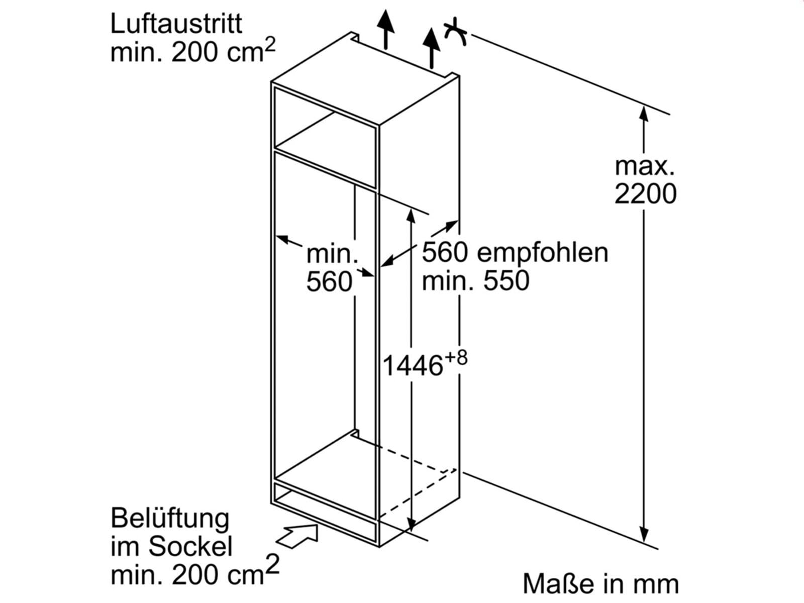 bosch kiv67vs30 einbau k hl gefrierkombination. Black Bedroom Furniture Sets. Home Design Ideas