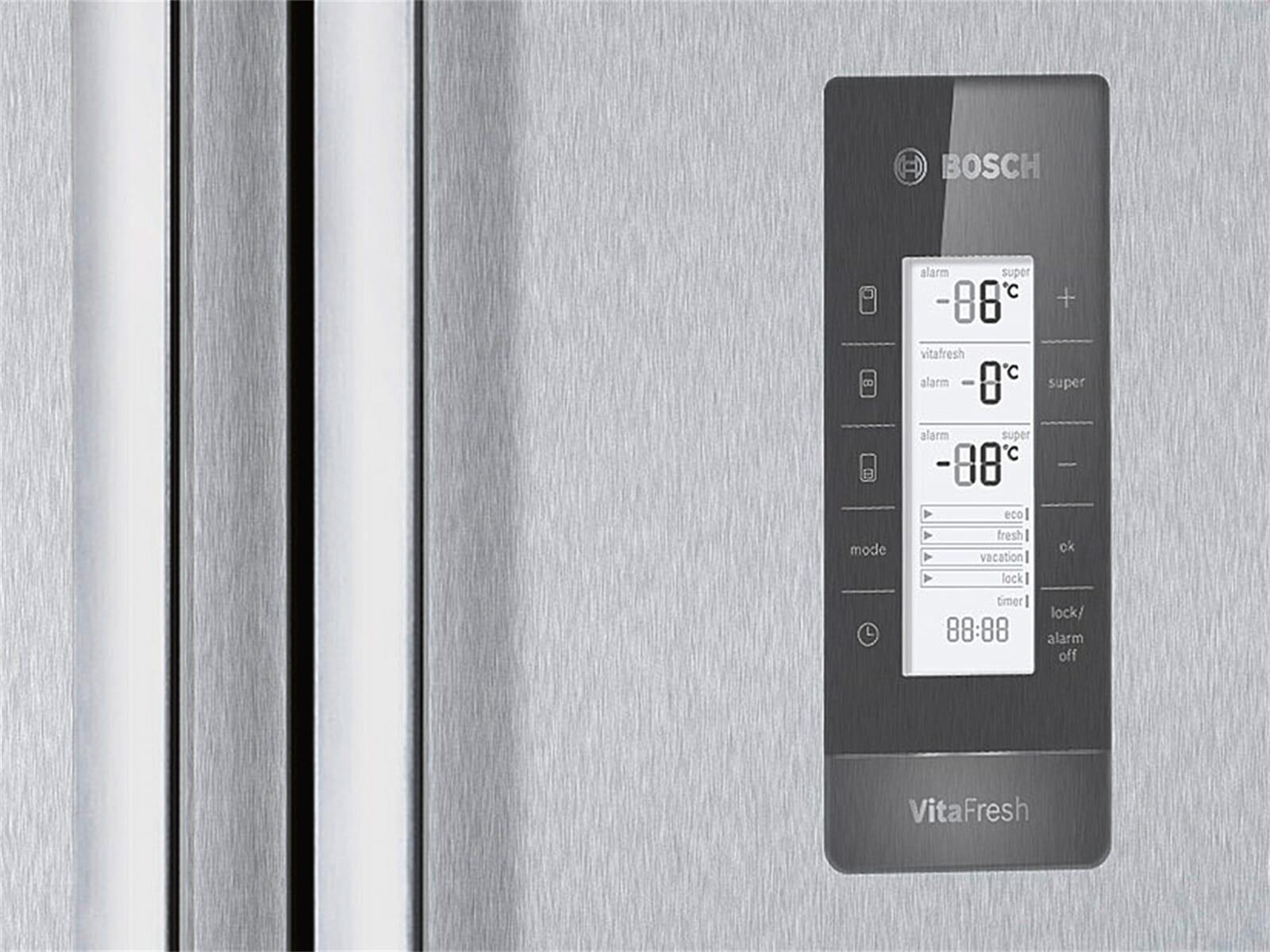Fantastisch Bosch KMF40AI20 Standkühlschrank Edelstahl. Produktbild KMF40AI20  Produktbild KMF40AI20 Bedienelement KMF40AI20 Bedienelement KMF40AI20