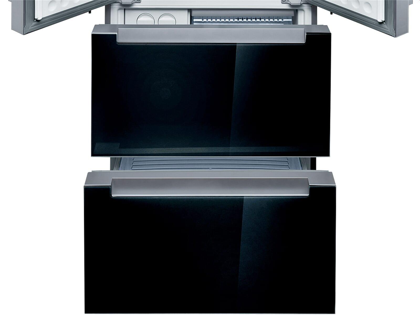 Bosch KMF40SB20 French Door, Kühl-Gefrier-Kombination Schwarz hinter Glas
