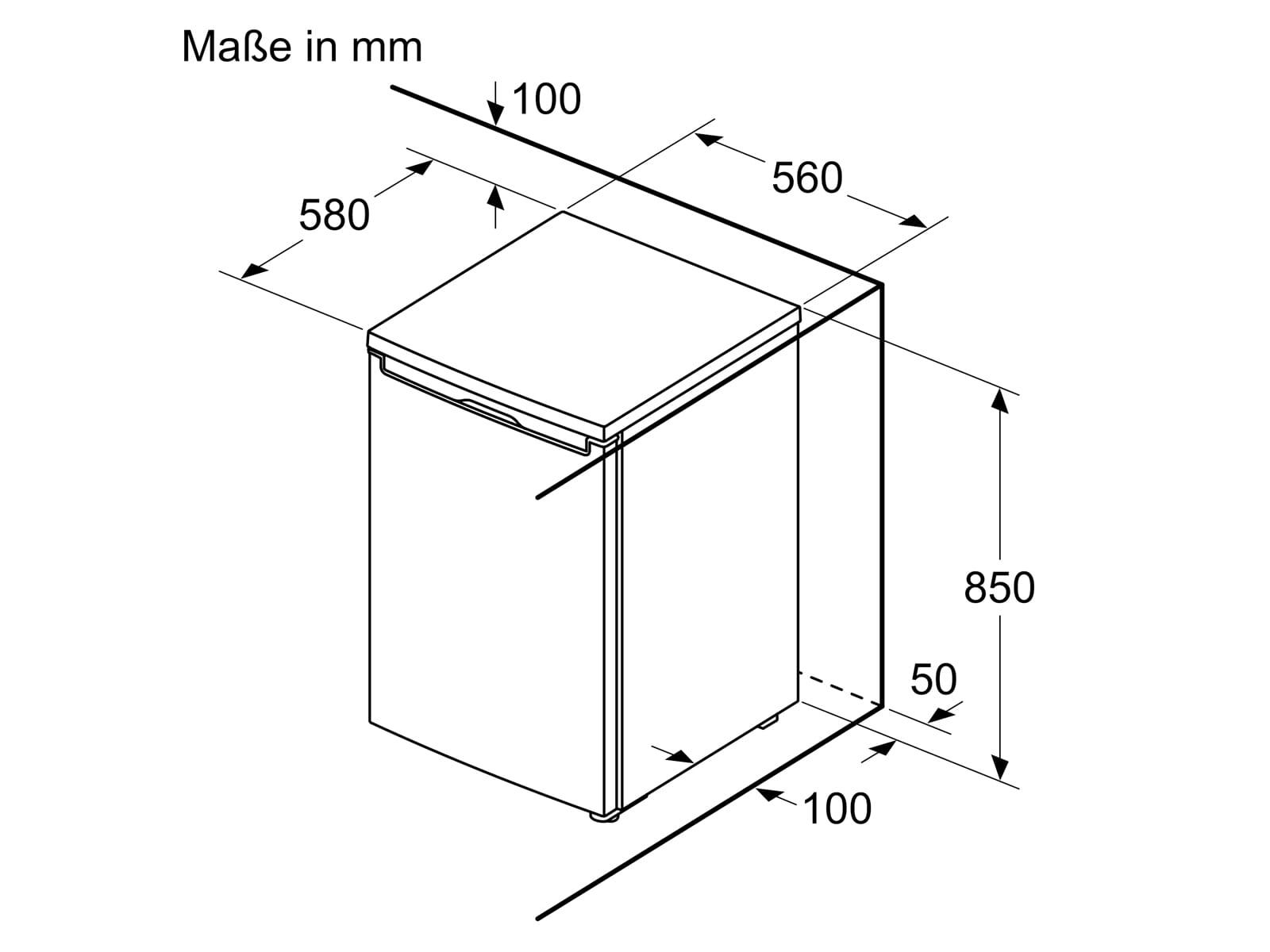 Bosch KTL15NWFA Tischkühlschrank Weiß