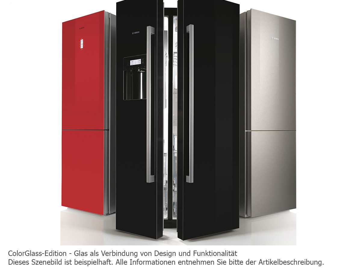 bosch kgf39sb45 k hl gefrierkombination schwarz. Black Bedroom Furniture Sets. Home Design Ideas