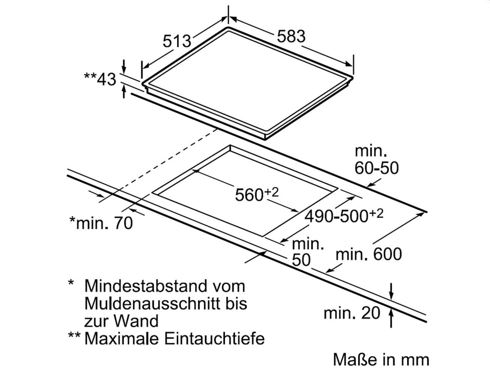 Bosch NKE645G17 Glaskeramikkochfeld herdgebunden