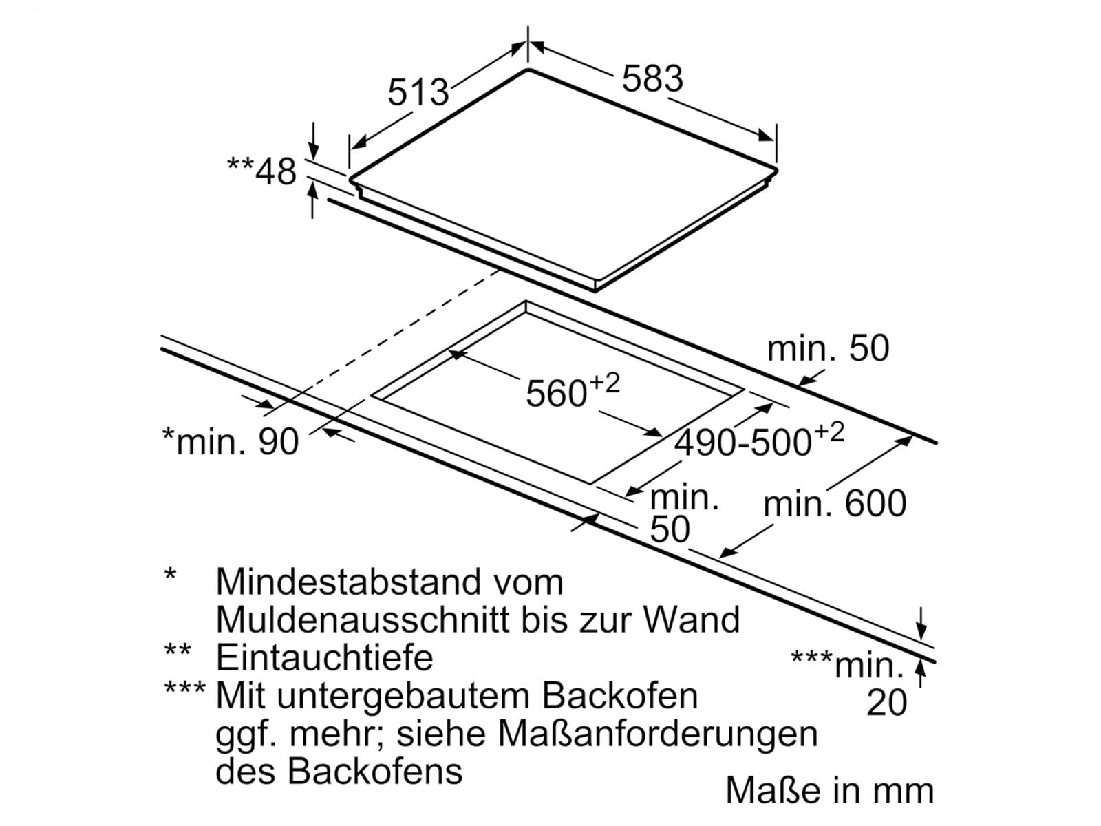 Bosch HBD671FH60 Set Pyrolyse Backofen HBT278BS0 + Glaskeramikkochfeld PKN645BA1E