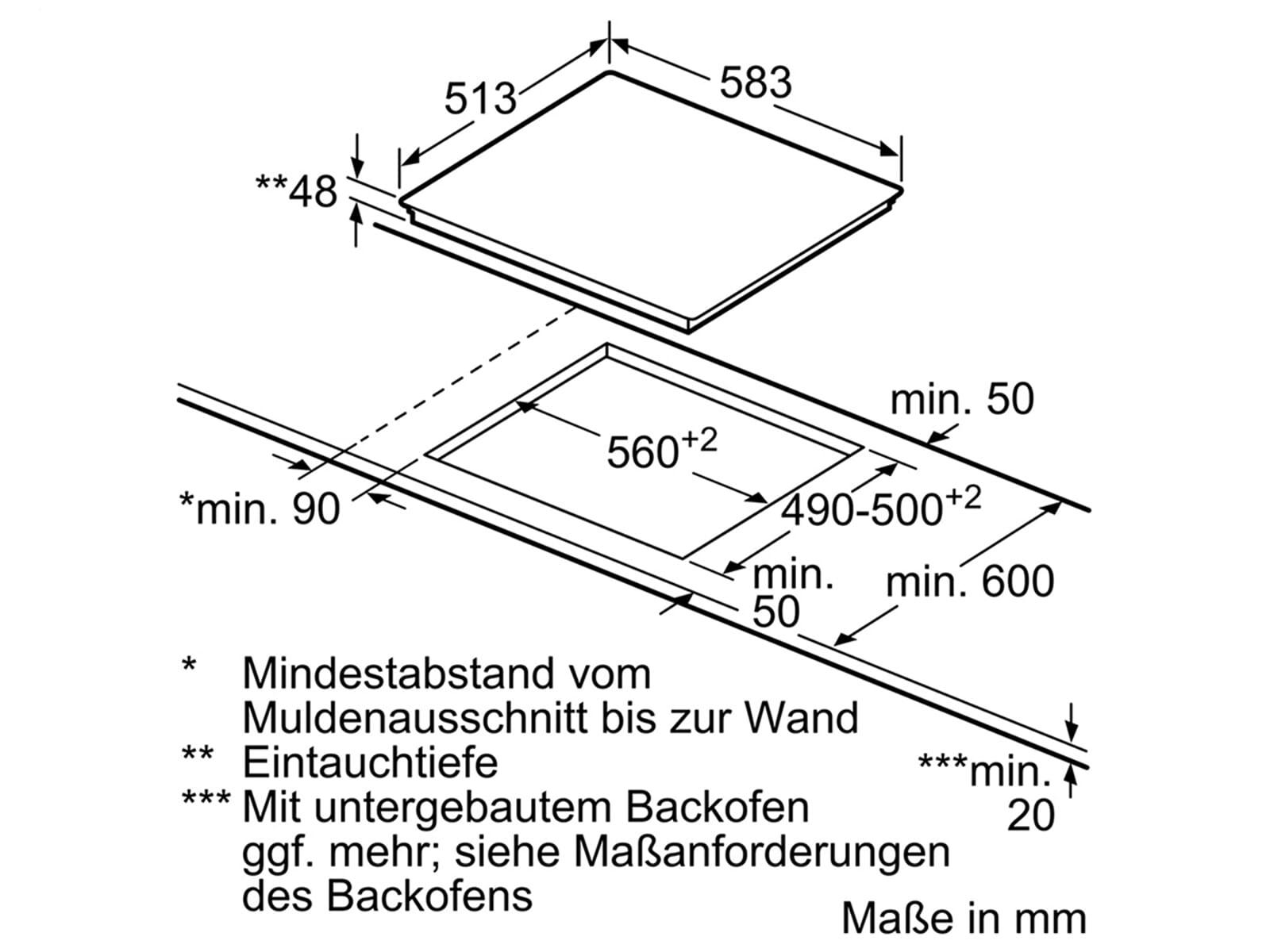 Bosch PKN645FP1E Glaskeramikkochfeld autark