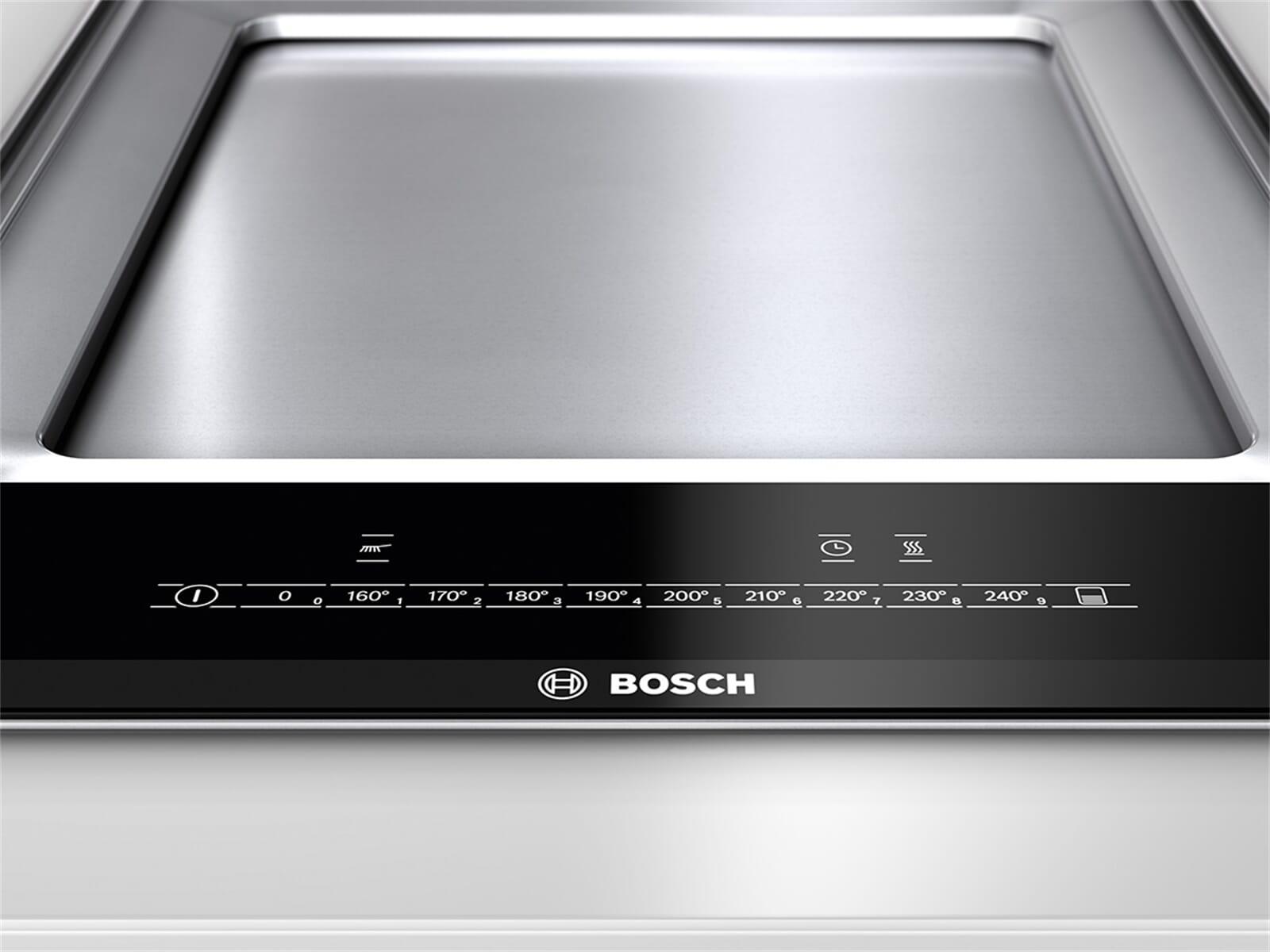 bosch pky475fb1e domino kochfeld teppan yaki edelstahl autark. Black Bedroom Furniture Sets. Home Design Ideas