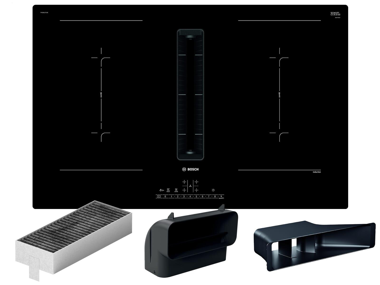 Bosch PVQ811G65 Induktionskochfeld-Dunstabzug-Kombination PVQ811F15E +  Installationszubehör