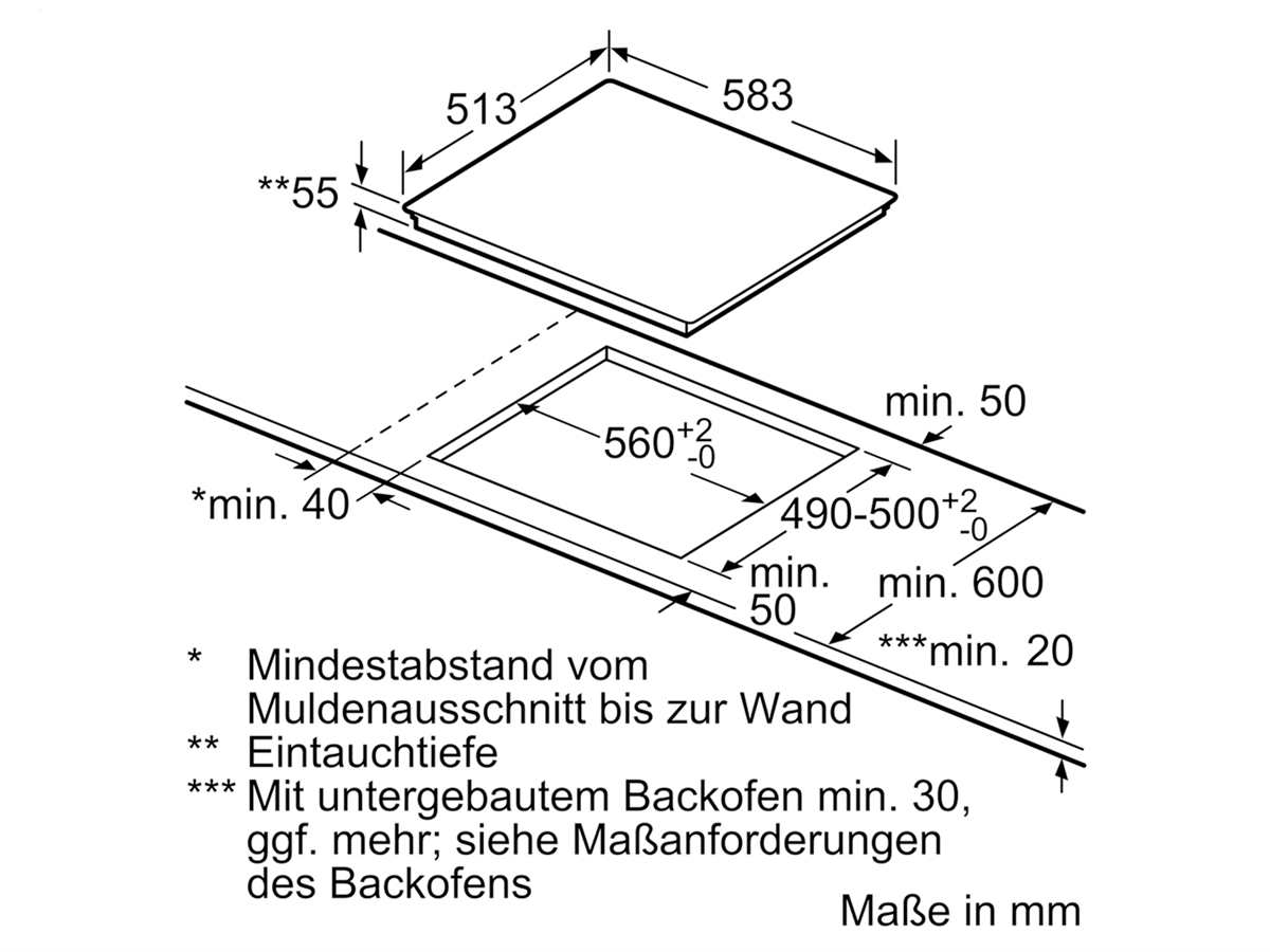 Bosch PVS645FB5E Induktionskochfeld autark