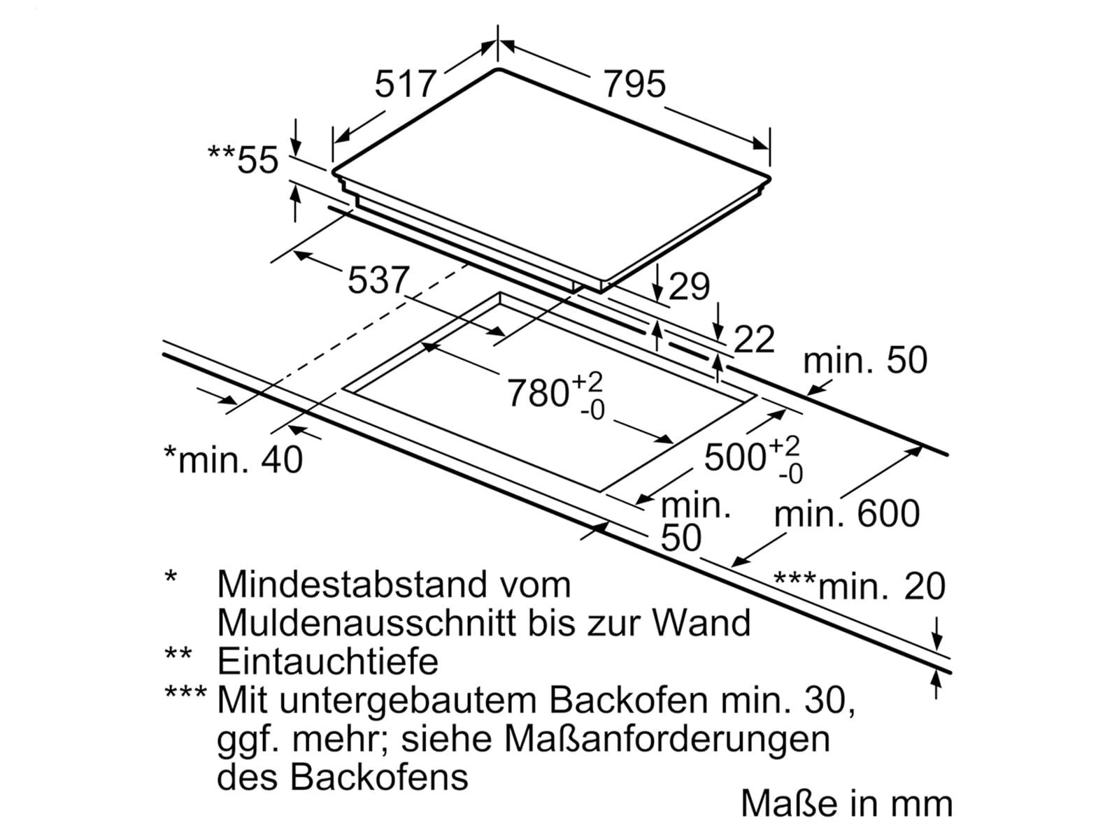 Bosch HBD672LS80 Set Pyrolyse Backofen HBA5784S0 + autarkes Glaskeramikkochfeld PKC845FP1D