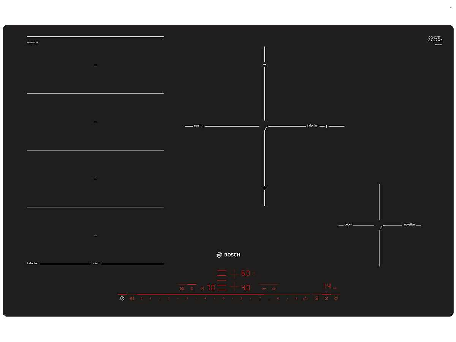 bosch pxe801dc1e induktionskochfeld autark. Black Bedroom Furniture Sets. Home Design Ideas