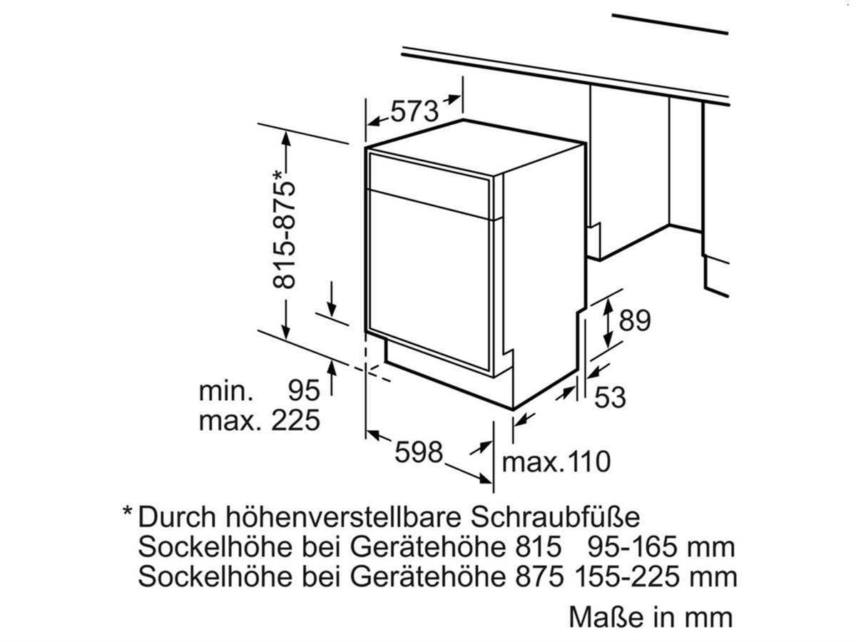 Bosch SMD46IM03E Unterbaugeschirrspüler Braun