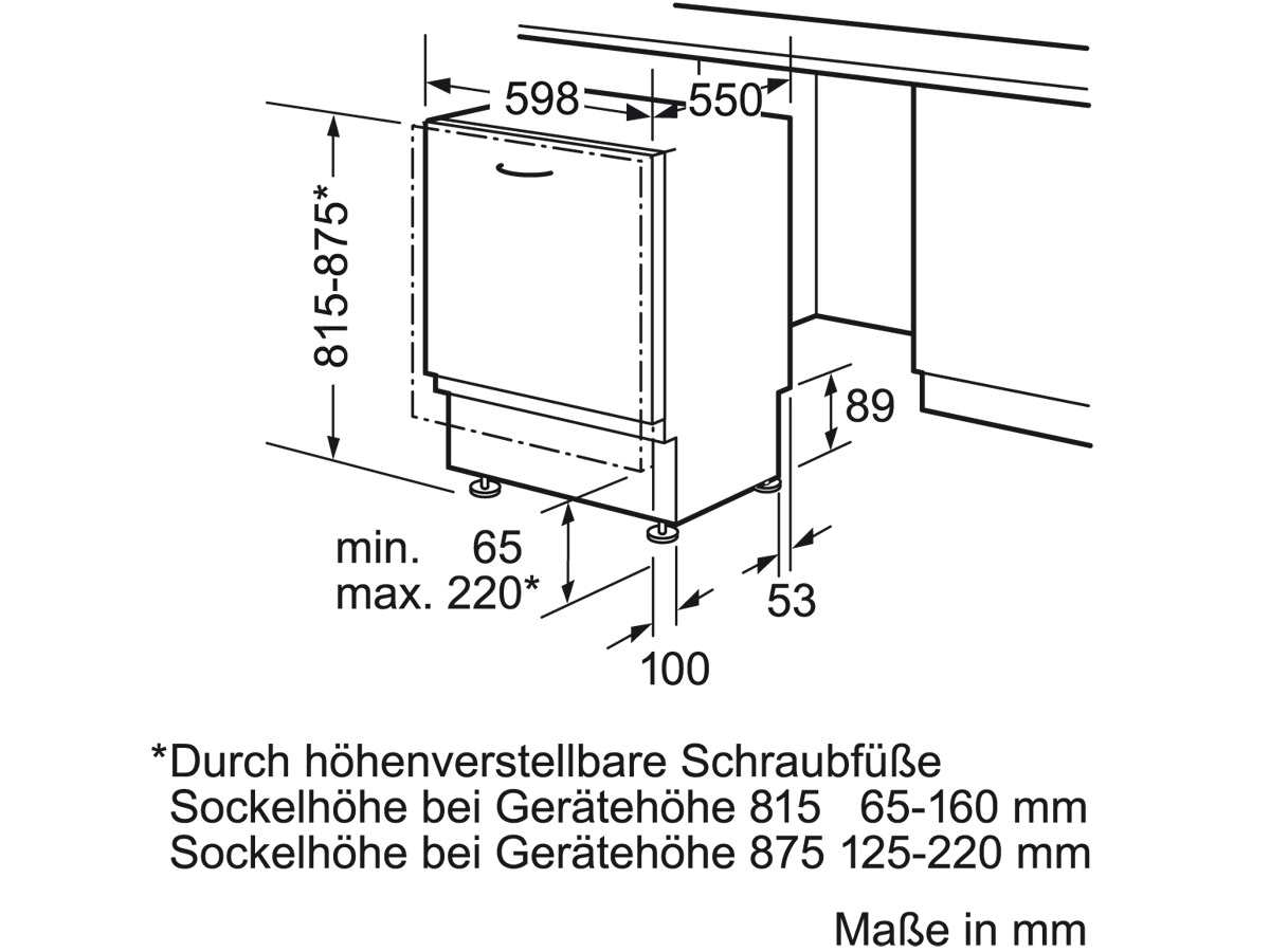 Bosch SBV54N31EU Vollintegrierbarer Einbaugeschirrspüler | {Einbaugeschirrspüler 89}