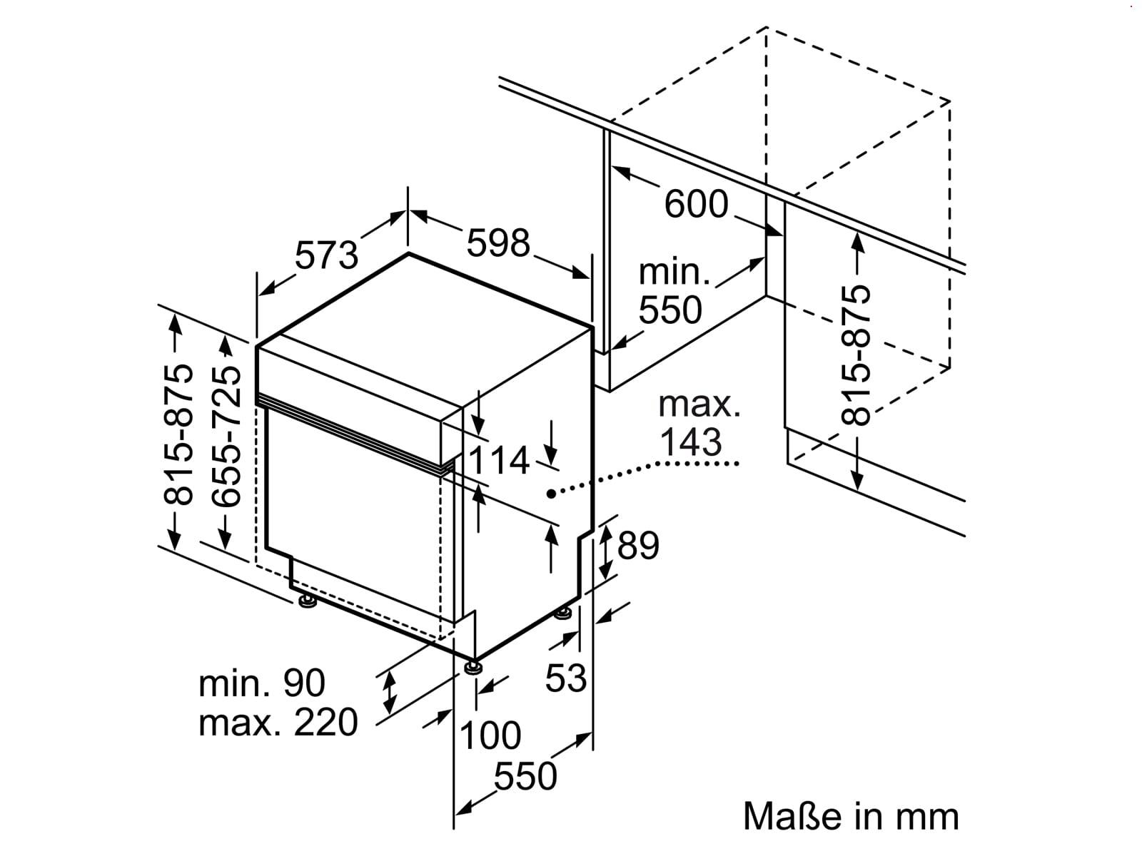 Bosch SMI4HAS48E Teilintegrierbarer Einbaugeschirrspüler