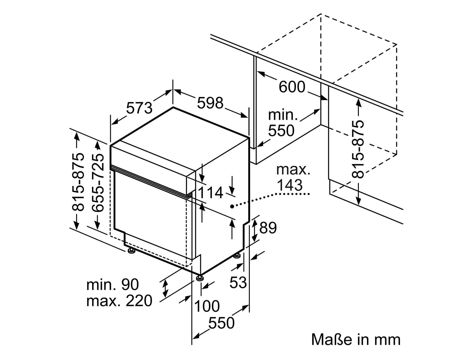 Bosch SMI4HCS48E Teilintegrierbarer Einbau Geschirrspüler