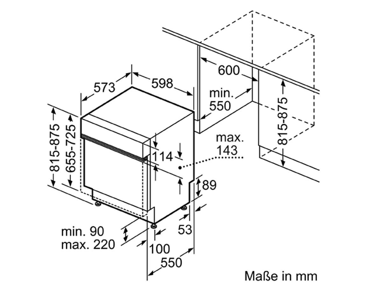 Bosch SMI6ZCS49E Teilintegrierbarer Einbaugeschirrspüler