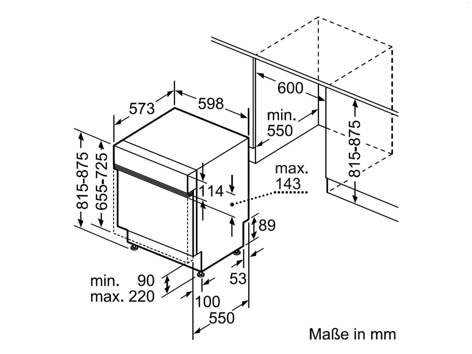 Bosch SMI46MW03E Teilintegrierbarer Einbaugeschirrspüler
