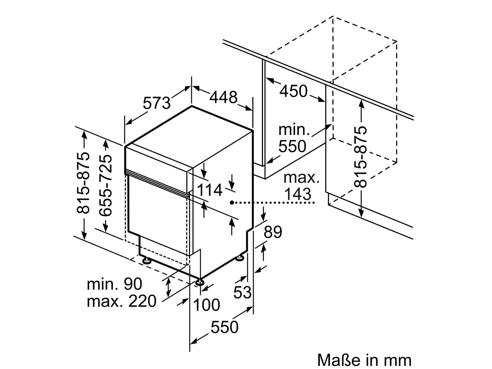 Bosch SPI2HKS41E Teilintegrierbarer Einbaugeschirrspüler