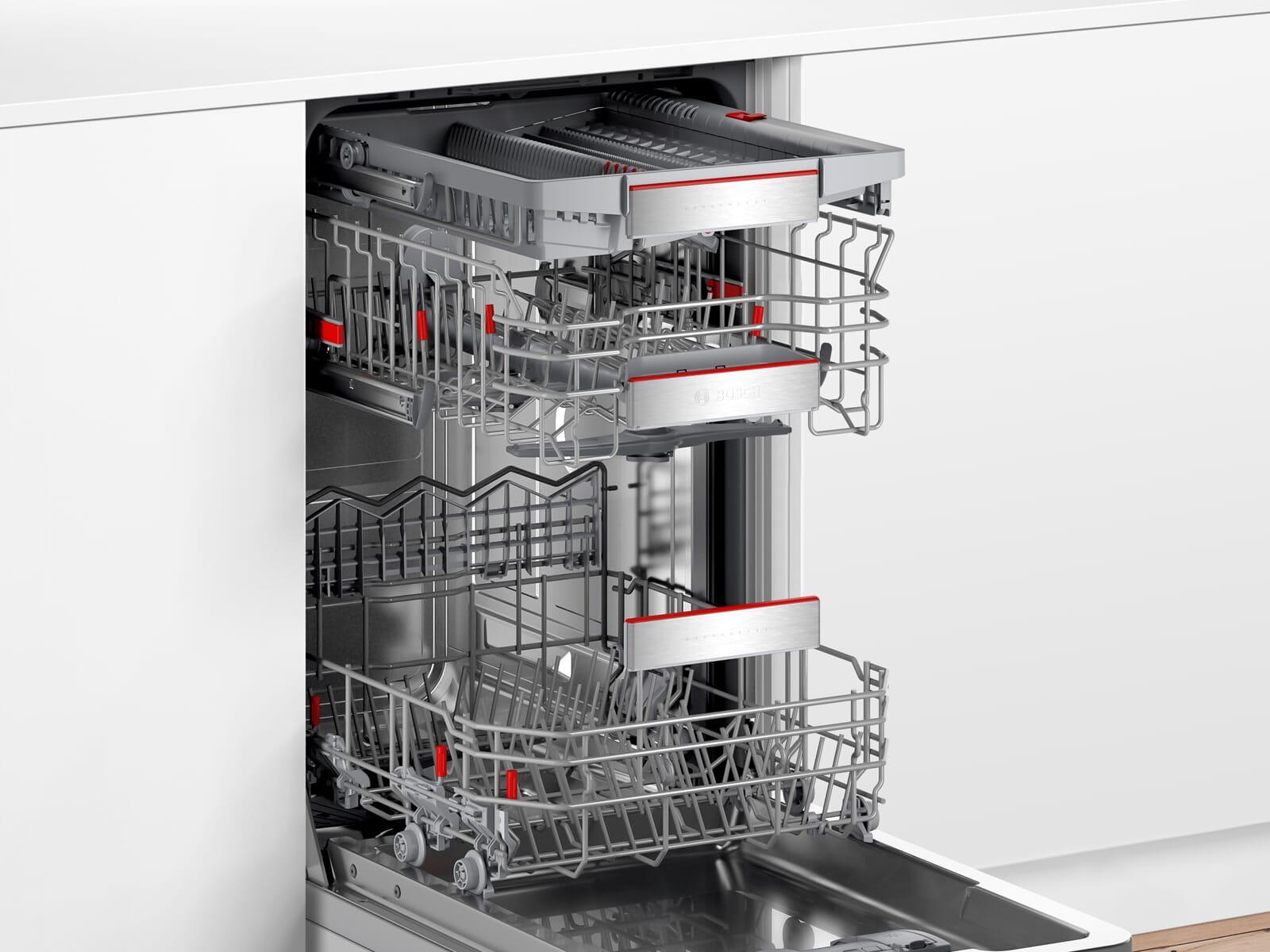 Bosch SPI6EMS23E Teilintegrierbarer Einbaugeschirrspüler