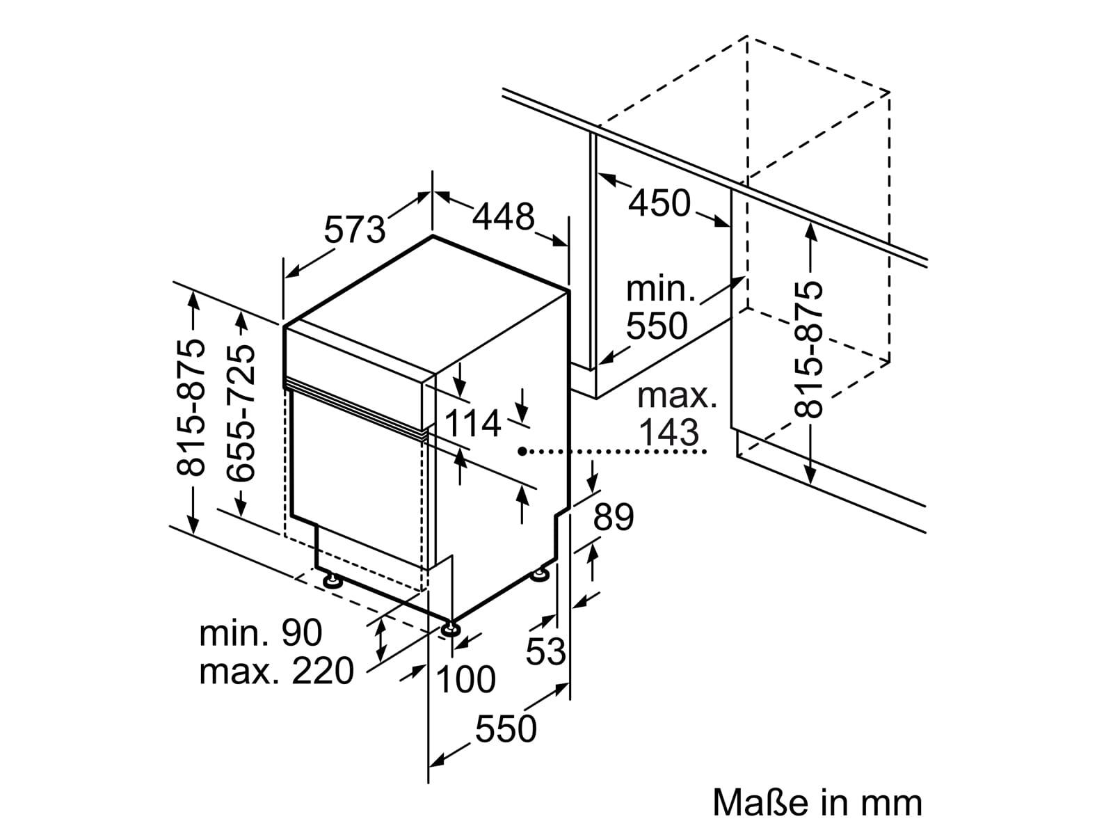 Bosch SPI6ZMS35E Teilintegrierbarer Einbaugeschirrspüler