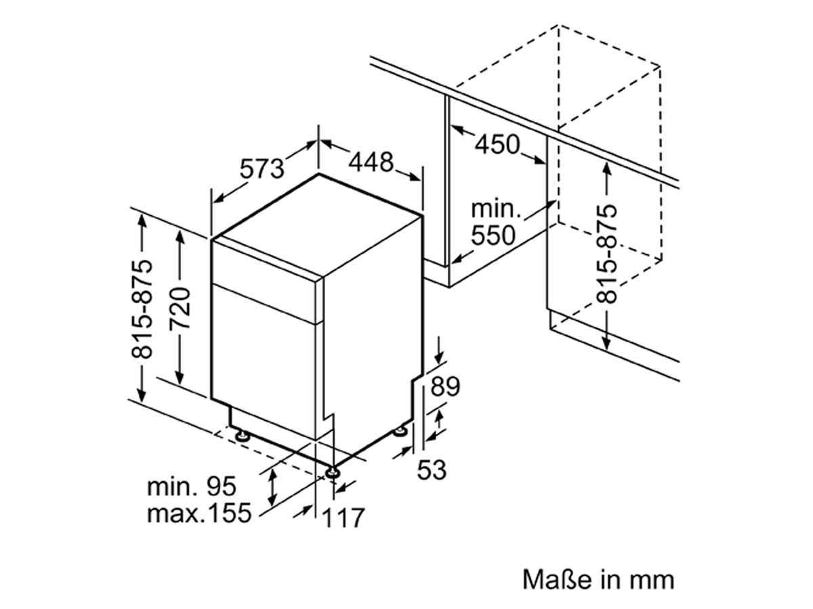Bosch SPU2XMS01E Unterbaugeschirrspüler Edelstahl