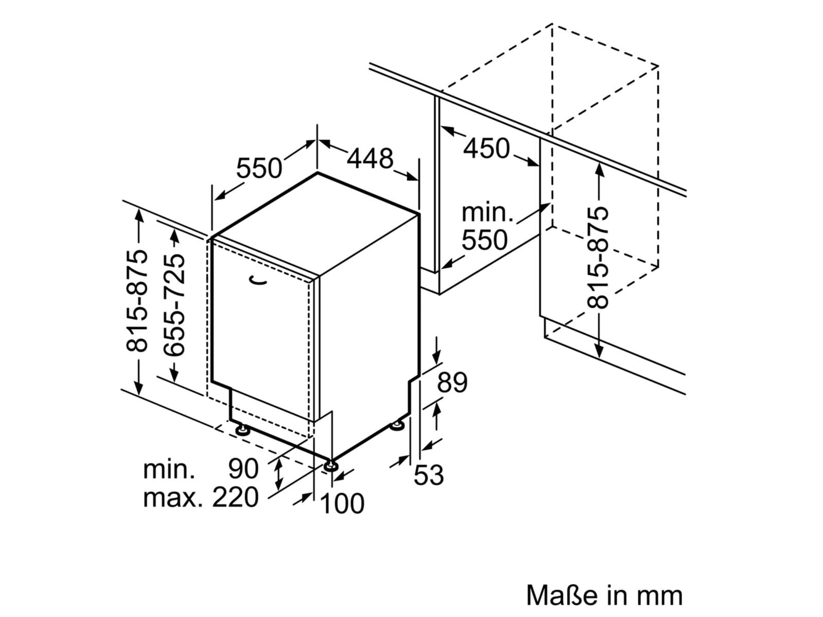 Bosch SPV2HKX41E Vollintegrierbarer Einbaugeschirrspüler
